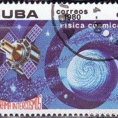 Sellos: 1980 - CUBA - PROGRAMA INTERCOSMOS - FISICA COSMICA - YVERT 2185. Lote 148774222