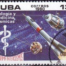Sellos: 1980 - CUBA - PROGRAMA INTERCOSMOS - BIOLOGIA Y MEDICINA COSMICAS - YVERT 2188. Lote 148774326