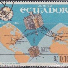 Sellos: 1966 - ECUADOR - CENTENARIO DE LA UIT - SATELITES SYNCOM Y EARLY BIRD - YVERT 753. Lote 149854606