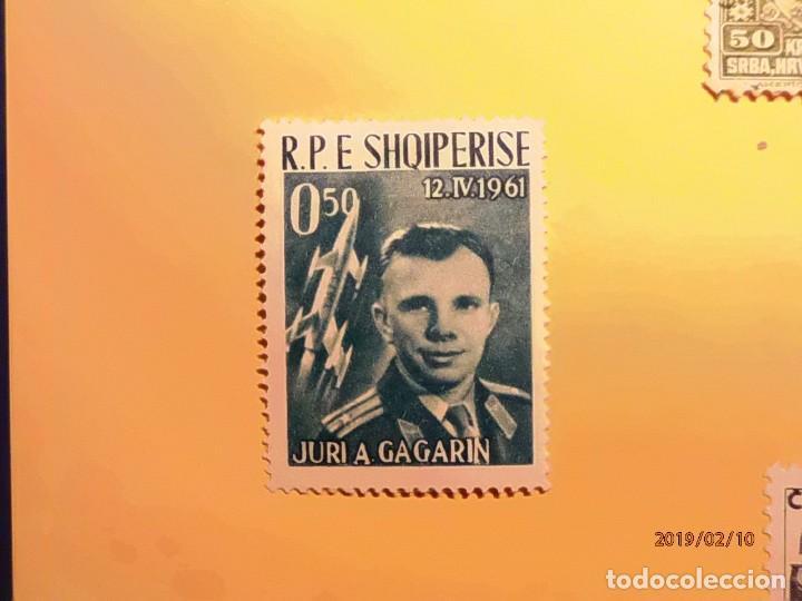 SHQIPERISE - EL ESPACIO - JURI A. GAGARIN. (Sellos - Temáticas - Conquista del Espacio)