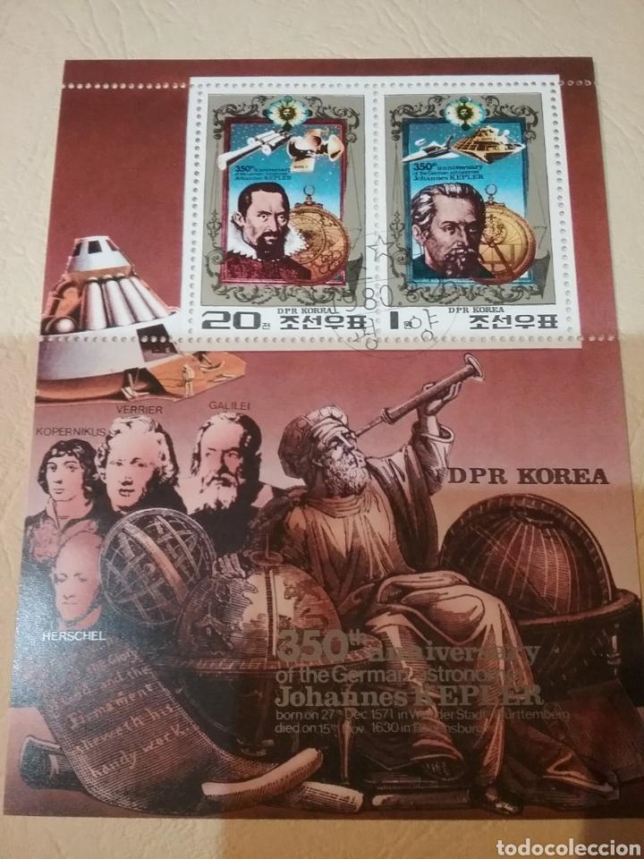 HB COREA NORTE MTDA (DPKR)/1980/350 ANIV. MUERTE KEPLER/ASTRONOMO/NAVE/TELESCOPIO/SISTEMA SOLAR/ESPA (Sellos - Temáticas - Conquista del Espacio)