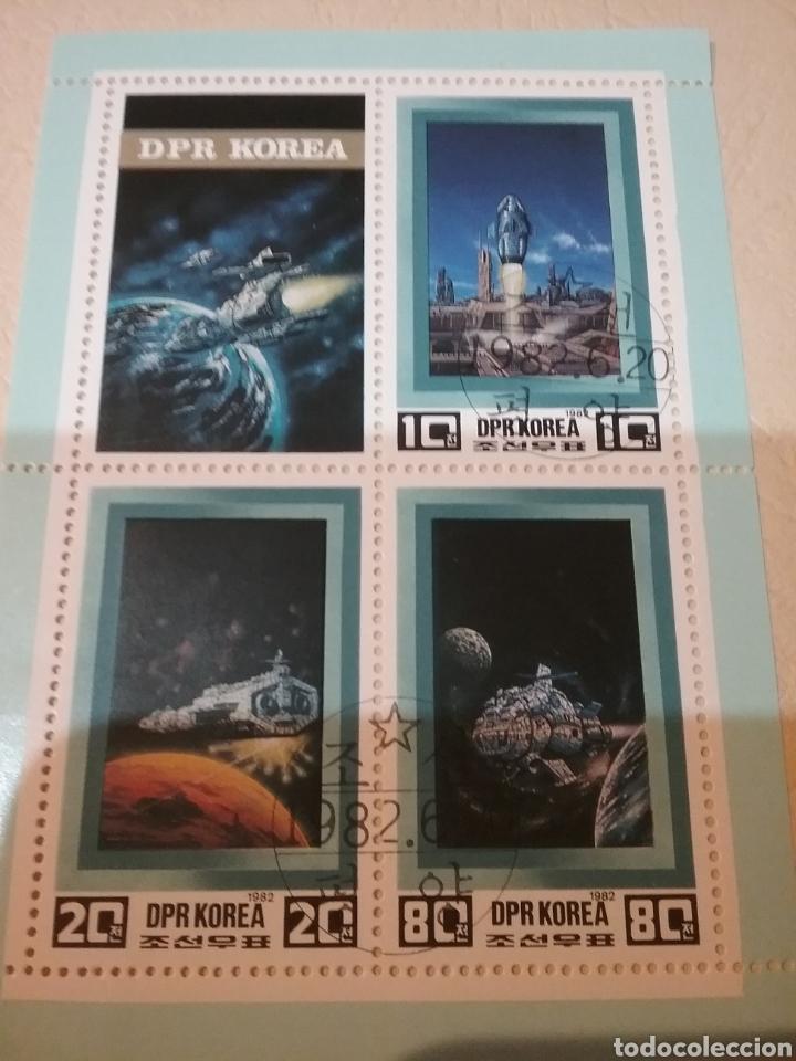 HB COREA NORTE MTDOS (DPRK)/1982/ESPACIO/COSMOS/FUTURO/NAVES/ASTRONAUTAS/ASTROS/PLANETAS/GALAXIA/AST (Sellos - Temáticas - Conquista del Espacio)