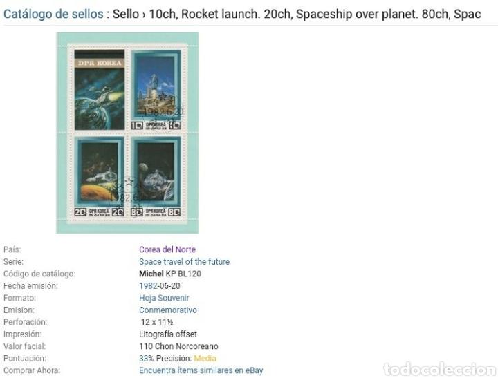 Sellos: HB Corea Norte mtdos (DPRK)/1982/Espacio/Cosmos/Futuro/Naves/Astronautas/Astros/Planetas/Galaxia/ast - Foto 2 - 152155244
