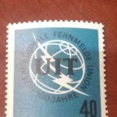 Sellos: SELLOS ALEMANIA, R. FEDERAL NUEVOS/1965/I CENT DE LA U.I.T/GLOBO TERRAQUEO/. Lote 154537093