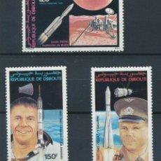 Sellos: SELLOS DJIBOUITI 1981 Y&T 150/152** GAGARIN SHEPARD. Lote 155517086