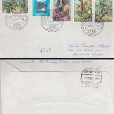 Sellos: AÑO 1973, SABADELL, ASTRONAUTA MONTADO EN UN COHETE, CIRCULADO. Lote 159236774