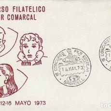 Sellos: AÑO 1973, SABADELL, ASTRONAUTA MONTADO EN UN COHETE, CIRCULADO, SOBRE DE ALFIL. Lote 159236882