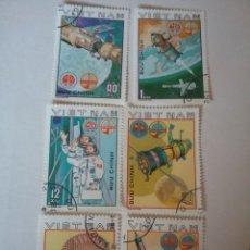 Sellos: SELLOS R. D. VIETNAM NORTE MTDOS/1980/VUELO ESPACIO/INTERCOSMOS/PARACAIDAS/ASTROS/SOYUZ 37/SATELITES. Lote 159689826