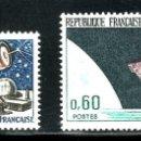 Sellos: TEMA ASTRO. FRANCIA 1965/1966 1451+1476 UIT TELECOMUNICACIONES / SATELITE D1. Lote 161338138
