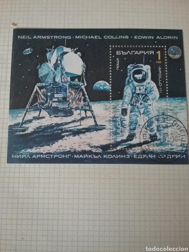 HB (DENTADA) R. BULGARIA MTDA/1990/EXPLORACION ESPACIO/ARMRSTRONG/LUNA/SOYUZ/APOLLO/ASTROS/COSMOS/NA (Sellos - Temáticas - Conquista del Espacio)
