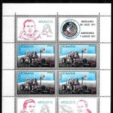 Sellos: RUMANIA 1971. HB YT NUM. 89 ** NUEVA MNH. APOLLO 15. ESPACIO. Lote 163984122