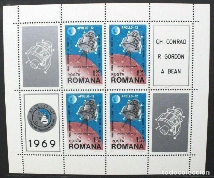 SELLOS RUMANIA 1969 Y&T 74 MISIÓN APOLLO 12 (Sellos - Temáticas - Conquista del Espacio)
