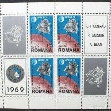 Sellos: SELLOS RUMANIA 1969 Y&T 74 MISIÓN APOLLO 12. Lote 164956390