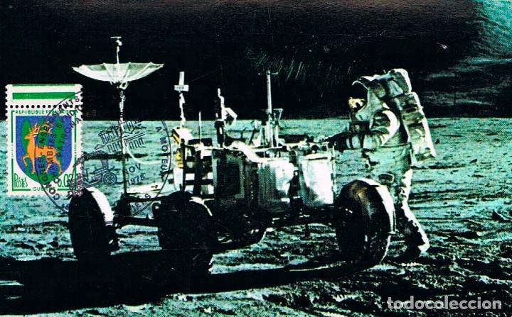 FRANCIA, EXPOSICION DE VEHICULOS A MOTOR, VEHICULO LUNAR, AÑO 1975 (Sellos - Temáticas - Conquista del Espacio)