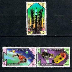 Sellos: EMIRATOS ARABES (RAS AL KHAIMA) 583/7, EXPLORACION ESPACIALUSADOS (SERIE COMPLETA). Lote 168467192