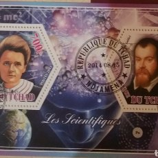 Timbres: HB R. CHAD (TCHAD) MTDOS/2014/CIENTIFICOS/FAMOSO/GALILEO/CURIE/INVENTORES/INVENTOR/ARTE/ASTROS/PLANE. Lote 169137729