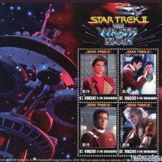 Sellos: SAN VICENTE Y LAS GRANADINAS 2010 STAR TREK II LA IRA DE KHAN SERIE COMPLETA MNH. Lote 170313224