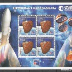 Sellos: SELLOS MADAGASCAR AÑO 1999. AGENCIA ESPACIAL EUROPEA-PHILEX FRANCE'99 HOJA BLOQUE NUEVA. Lote 172586572