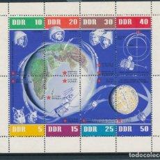 Sellos: SELLOS ALEMANIA ORIENTAL DDR 1962 HB-12** ANIVERSARIO VUELOS ESPACIALES SOVIETICOS. Lote 178619215