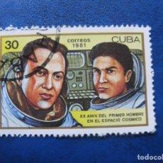 Sellos: CUBA 1981* XX ANIV.PRIMER HOMBRE EN EL ESPACIO. Lote 179857916