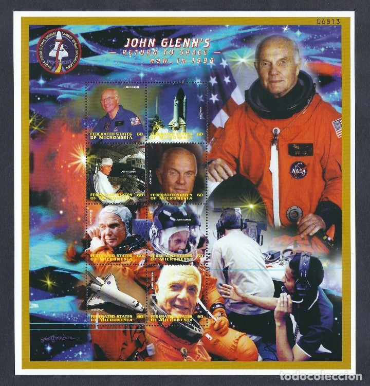 Sellos: SELLOS MICRONESIA 1998 JOHN GLENNS RETURN TO SPACE - Foto 1 - 180190635
