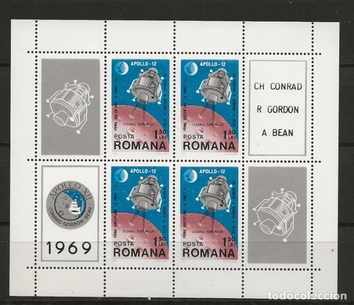 R37/ RUMANIA Y&T 74 MNH** H/B (Sellos - Temáticas - Conquista del Espacio)