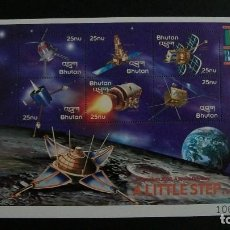 Timbres: SATELITES-BHUTAN-2000-MINIPLIEGO(SERIE COMPLETA) EN NUEVO**(MNH). Lote 189237257