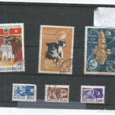 Selos: 6 SELLOS TEMÁTICA ESPACIO URSS. Lote 190926793