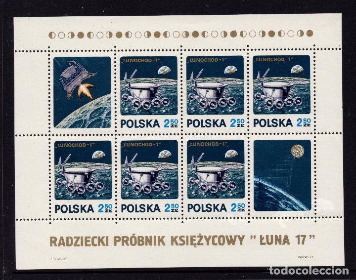 POLONIA HB 54** - AÑO 1971 - CONQUISTA DEL ESPACIO - LUNA 17 (Sellos - Temáticas - Conquista del Espacio)