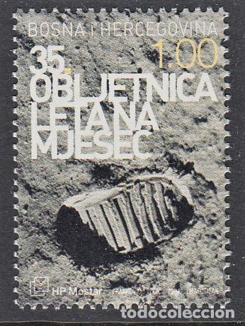 BOSNIA I HERZEGOVINA MOSTAR 2004 35 ANIVERSARIO DE LA LLEGADA DEL HOMBRE A LA LUNA (Sellos - Temáticas - Conquista del Espacio)
