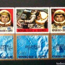 Sellos: GUINEA CARRERA ESPACIAL SERIE DE 6 SELLOS NUEVOS. Lote 195322957
