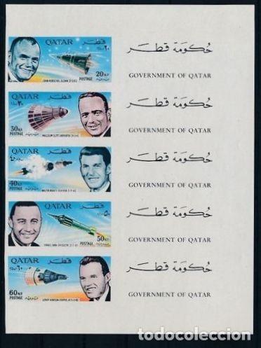 QATAR 1966 ASTRONAUTAS AMERICANOS HOJA SIN DENTAR (Sellos - Temáticas - Conquista del Espacio)