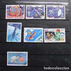 Sellos: LOTE 7 SELLOS CUBA INTERCOSMOS SATÉLITE VUELOS ESPACIALES. Lote 198298146