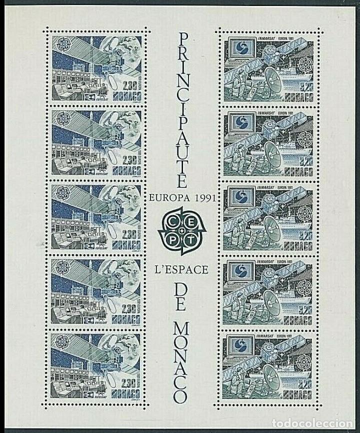 SELLOS MONACO 1991 EUROPA CEPT EL ESPACIO (Sellos - Temáticas - Conquista del Espacio)
