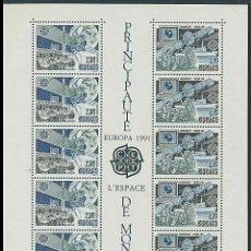 Sellos: SELLOS MONACO 1991 EUROPA CEPT EL ESPACIO. Lote 199089003