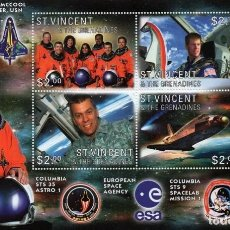 Sellos: SELLOS ST VINCENT & GRENADINES 2003 NASA COLUMBIA COMANDANTE WILLIAM C. MCOOL. Lote 199391877
