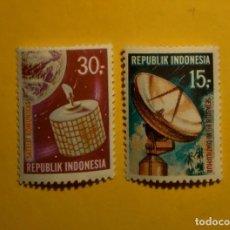 Timbres: REP. INDONESIA - EL ESPACIO - LOTE 2 SELLOS.. Lote 199762085