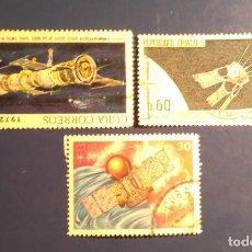 Sellos: EL ESPACIO - LOTE 3 SELLOS.. Lote 199762621