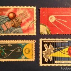 Sellos: CUBA - EL ESPACIO - LOTES 4SELLOS.. Lote 199762740