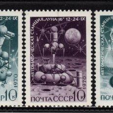 Timbres: RUSIA 3687/89** - AÑO 1970 - CONQUISTA DEL ESPACIO - LUNA 16. Lote 200368661