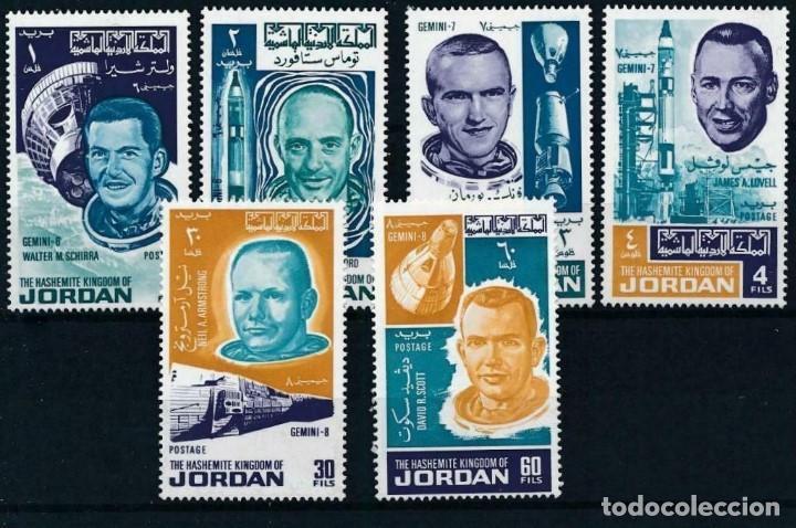 SELLOS JORDANIA 1966 ASTRONAUTAS CONQUISTA DEL ESPACIO (Sellos - Temáticas - Conquista del Espacio)
