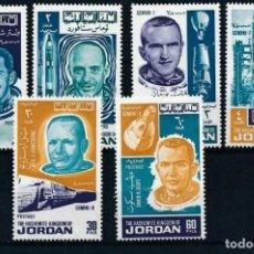 Sellos: SELLOS JORDANIA 1966 ASTRONAUTAS CONQUISTA DEL ESPACIO. Lote 203039550