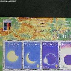 Timbres: ASTRONOMIA ECLIPSE SOLAR ALDERNEY HB NUEVO 1999. Lote 204238001