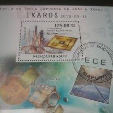 Sellos: HB MOZAMBIQUE MTDA/2010/HOMENAJE/TRIBUTO/ASTRONAUTA/ESPACIO/COSMOS/LANZADERA/NAVE/SATELITE/. Lote 204829251
