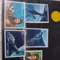 Sellos: CUBA 1976 ESPACIO SERIE 2293_98 YVERT 1920/25 NUEVO MANCHTAS. Lote 205359488