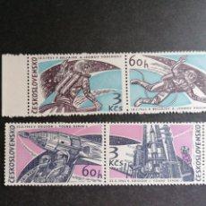 Francobolli: ASTRONOMIA VUELOS ESPACIALES CHECOSLOVAQUIA 1965 YVERT 1395/8 NUEVO. Lote 210228680