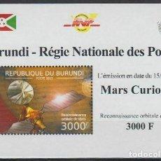 Sellos: BURUNDI 2012 HOJA BLOQUE SELLOS CONQUISTA DEL ESPACIO PLANETA MARTE. Lote 210399958