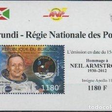 Sellos: BURUNDI 2012 HOJA BLOQUE SELLOS CONQUISTA DEL ESPACIO ASTRONAUTA NEIL ARMSTRONG - APOLO 11. Lote 210400190