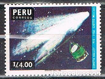 PERÚ Nº 1349, MISSION GIOTTO PARA EL COMETA HALEY, NUEVO *** (Sellos - Temáticas - Conquista del Espacio)