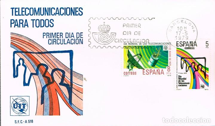 EDIFIL 2522/3, PRIMER DIA IA MUNDIAL DE LAS TELECOMUNICACIONES, PRIMER DIA DE 178-5-1979 SFC (Sellos - Temáticas - Conquista del Espacio)